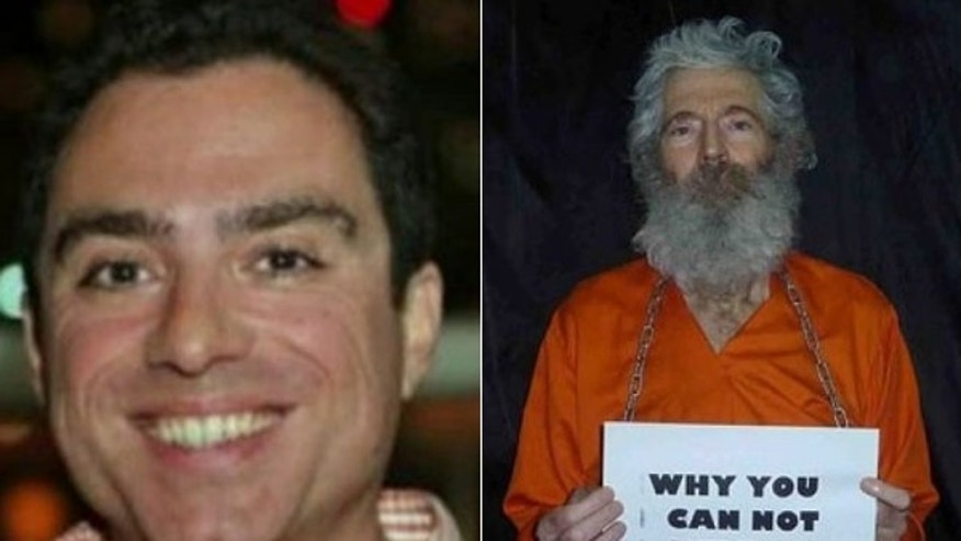 Photo shows two Americans, Siamak Namazi and Robert Levinson, who are still believed to be detained in Iran.