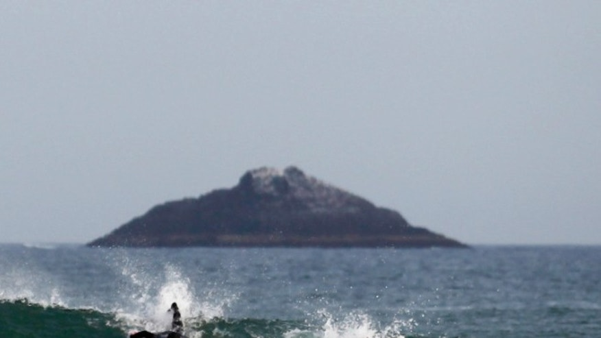 White Island off coast of New Zealand. (Reuters)