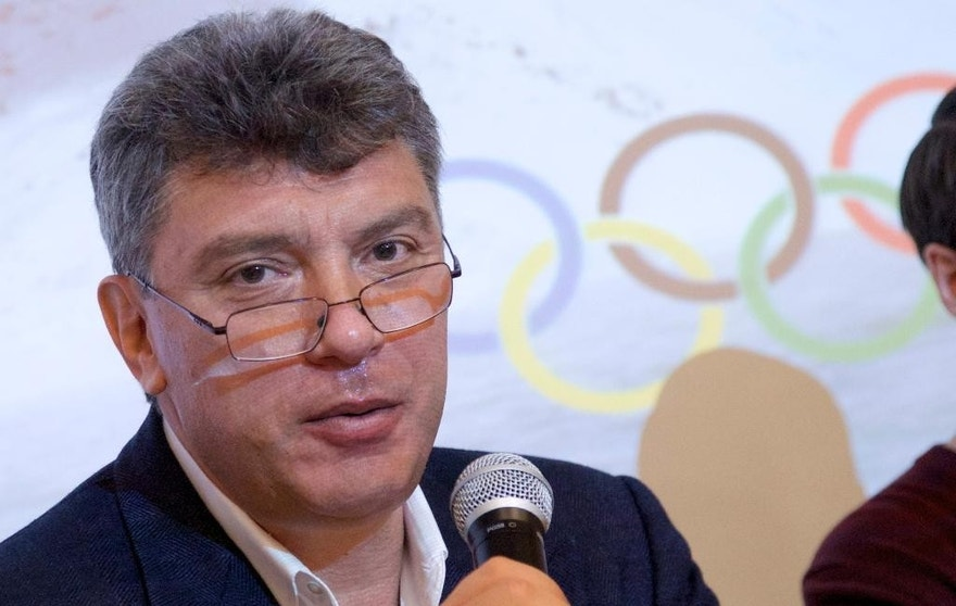 FILE  - In this file photo taken on Thursday, May  30, 2013, Boris Nemtsov, a former Russian deputy prime minister and opposition leader, presents a report claiming widespread corruption during preparations for the 2014 Winter Games in Sochi, at a news conference in Moscow, Russia. Russian police say opposition leader Boris Nemtsov has been shot and killed in Moscow.  (AP Photo/Ivan Sekretarev, File)