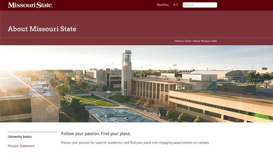 (Image: Screen shot from www.missouristate.edu)