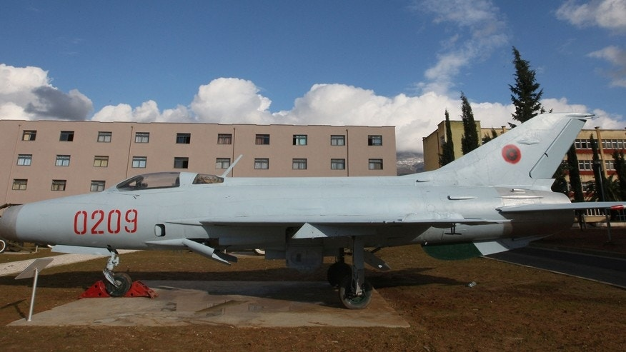 Dec. 8, 2012: An old Soviet-era Chinese-produced Mig-21 aircraft is parked at Albania's Armed Forces musum in capital Tirana.