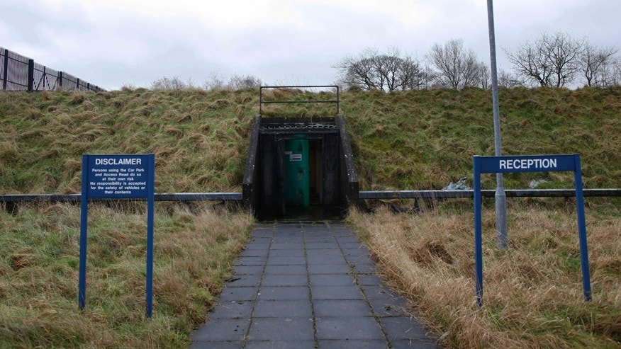 Feb. 4, 2016: The entrance to the nuclear bunker that was built by the during the cold war in Ballymena, Northern Ireland.