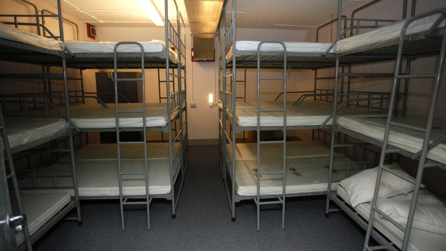 Feb. 4, 2016: Some of the sleeping quarters inside the nuclear bunker that was built during the cold war in Ballymena, Northern Ireland.