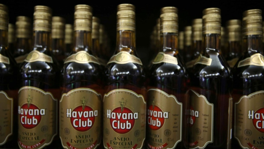 HAVANA, CUBA - FEBRUARY 27: Cubas trade mark Havana Club rum is seen on display as the second round of diplomatic talks between the United States and Cuban officials took place in Washington, DC on February 27, 2015 in Havana, Cuba. The dialogue is an effort to restore full diplomatic relations and move toward opening trade. (Photo by Joe Raedle/Getty Images)