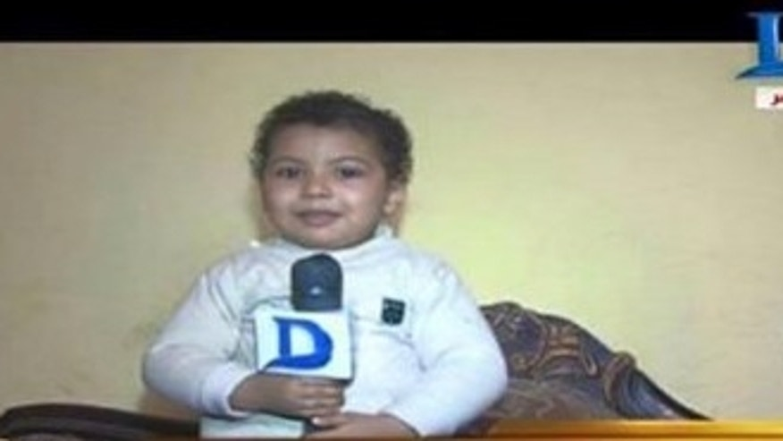 Four-year-old Ahmed Mansour Qurani Ali in an undated photo. The child was sentenced to life in prison for murder. (Egypt Independent)