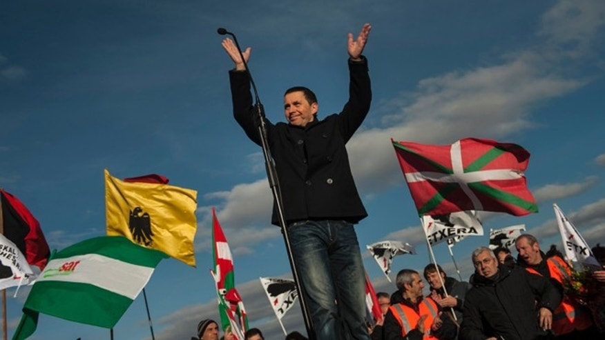 Arnaldo Otegi, leader of the former Basque independence Batasuna party, on Tuesday, March 1,2016.