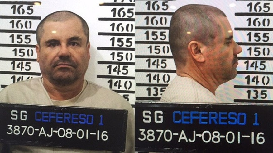 "Joaquin ""El Chapo"" Guzman in his Jan. 8, 2016 prison mugshot."
