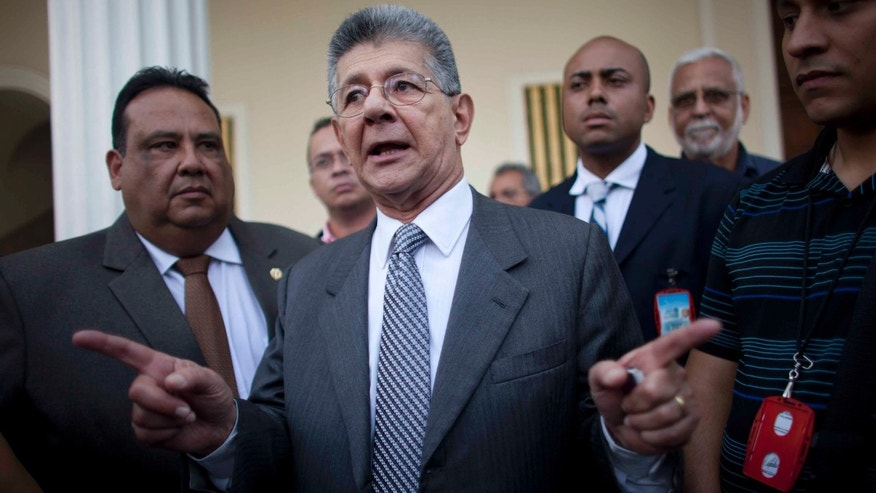 National Assembly President Henry Ramos Allup on Thursday, March 3, 2016.