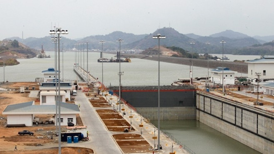 A view of Panama Canal expansion project on Friday, March 18, 2016.