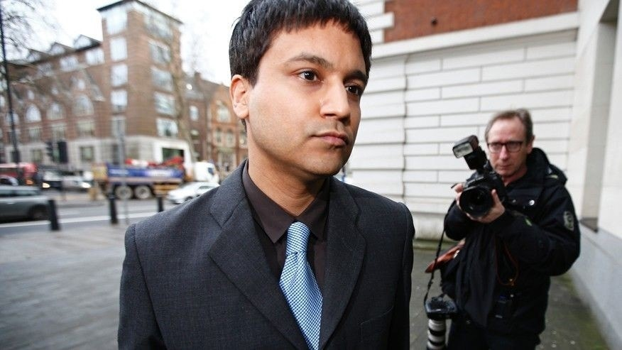 Feb. 4, 2016: Navinder Sarao arrives at Westminster Magistrates' Court for an extradition hearing in London, Britain.