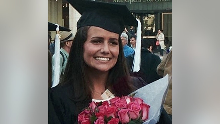 This May 2015 family photo shows Sascha Pinczowski at her graduation from Marymount Manhattan College in New York. Victims of the attacks on Brussels' airport and subway included commuters heading to work and travelers setting off on long-anticipated vacations. They came from dozens of nations to a city that's home to the European Union, NATO and other international institutions. Alexander and Sascha Pinczowski, Dutch nationals who lived in the U.S., were headed home to the United States when a bomb exploded at the Brussels airport Tuesday, March 22. Sascha Pinczowski, 26, was a 2015 graduate of Marymount Manhattan College in New York with a degree in business. She spent last summer as an intern at a catering company, Shiraz Events. (Courtesy of the family via AP)