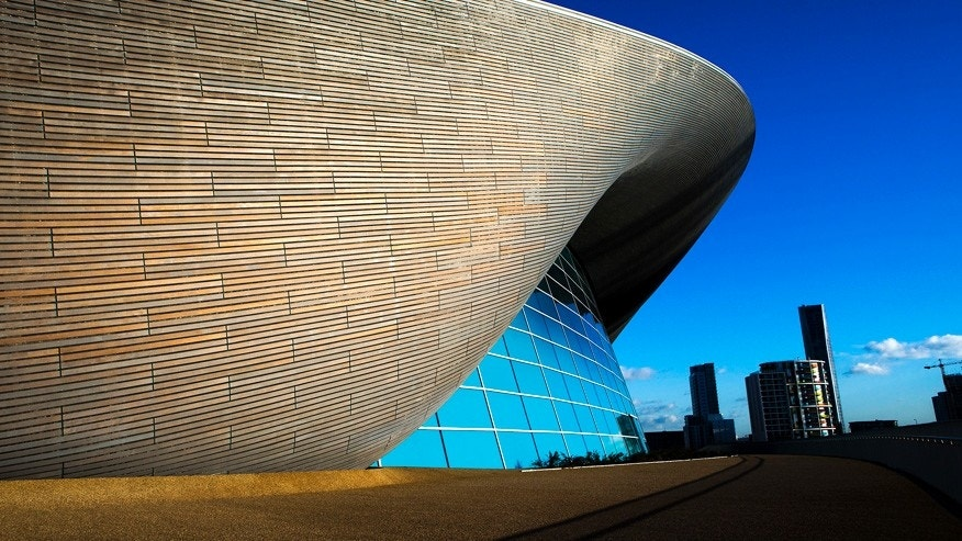 Feb. 3, 2016: The London Aquatics Centre built for the 2012 Olympic Games.