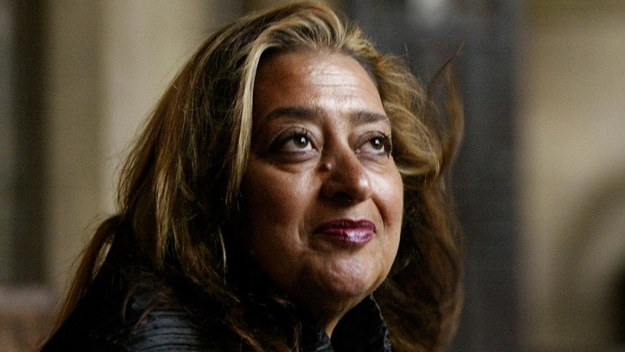 March 21, 2004: Iraqi-British architect Zaha Hadid poses in West Hollywood, Calif.