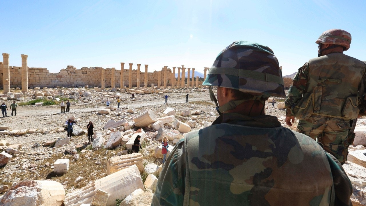 About 40 bodies reportedly found in mass grave in Palmyra