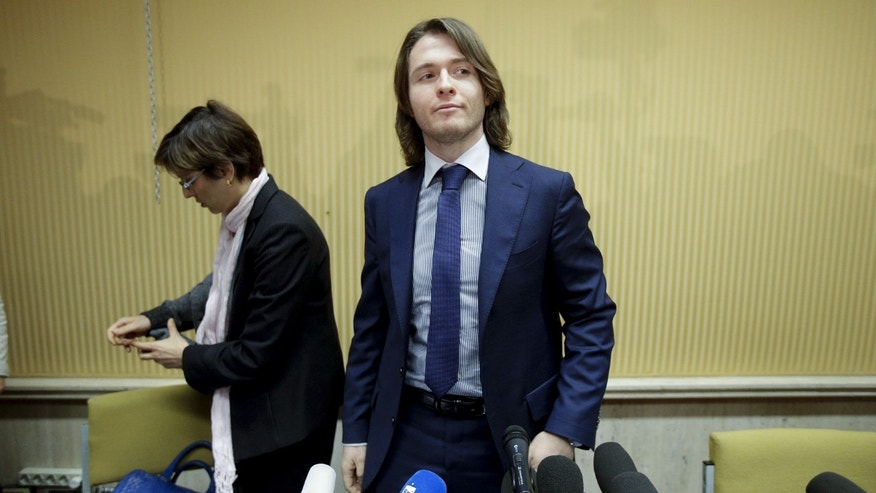 March 30, 2015: Raffaele Sollecito arrives to lead a news conference in Rome. (Reuters)