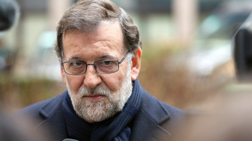 Spanish Prime Minister Mariano Rajoy on Friday, March 18, 2016.