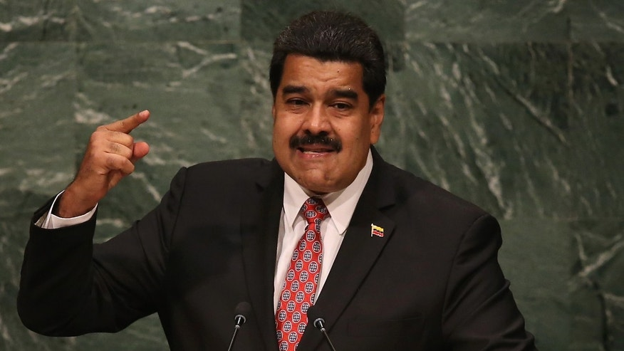 NEW YORK, NY - SEPTEMBER 29:  Nicolas Maduro, President of Venezuela, addresses the United Nations General Assembly at UN headquarters on September 29, 2015 in New York City. World leaders gathered for the 70th annual UN General Assembly meeting.  (Photo by John Moore/Getty Images)