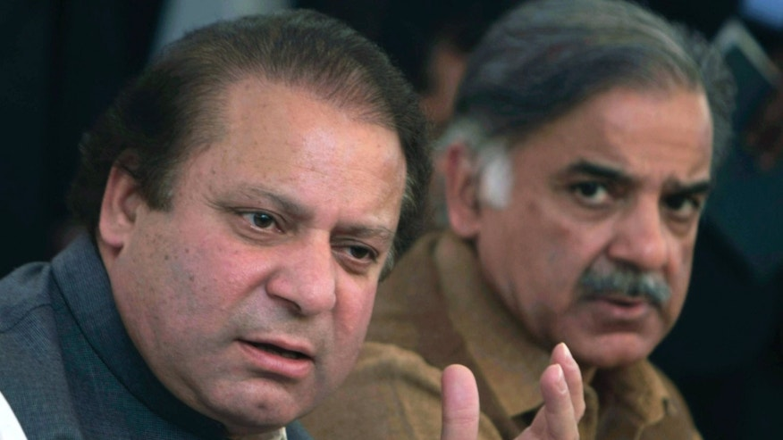 Pakistan's Prime Minister Nawaz Sharif, left, and his brother Shahbaz in 2008.