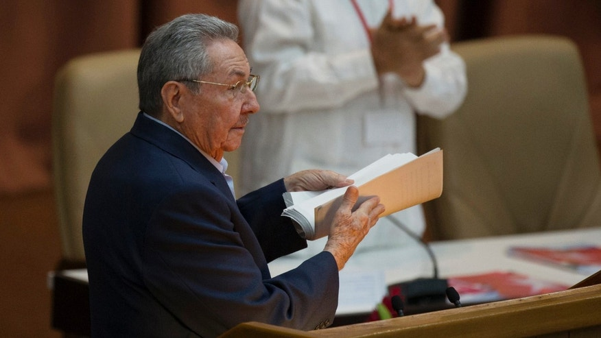 Cuba's President Raul Castro in Havana, Cuba, Saturday, April 16, 2016.