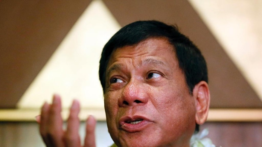 Rodrigo Duterte in March.
