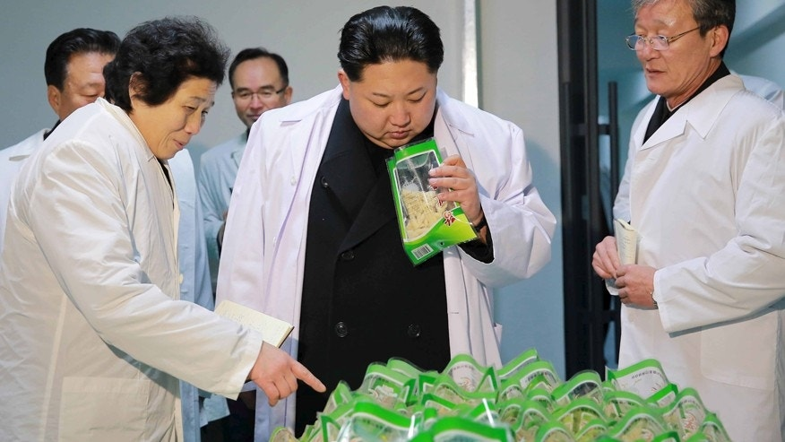 April 21, 2016: North Korean leader Kim Jong Un visits the Kumkop General Foodstuff Factory for Sportspersons in this undated photo released by North Korea's Korean Central News Agency (KCNA) in Pyongyang January 23, 2016.