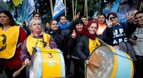 Argentina's big unions join to protest layoffs, inflation