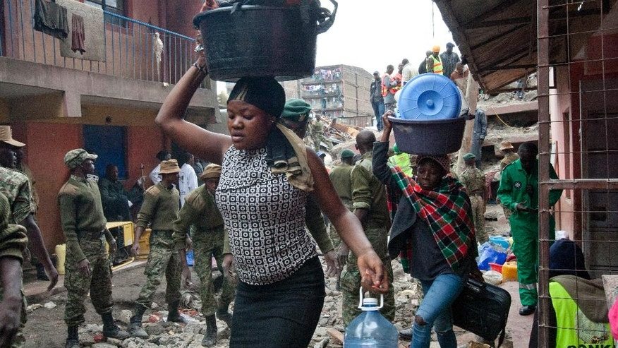 Police confirm 7 dead in building collapse in Kenyan ...