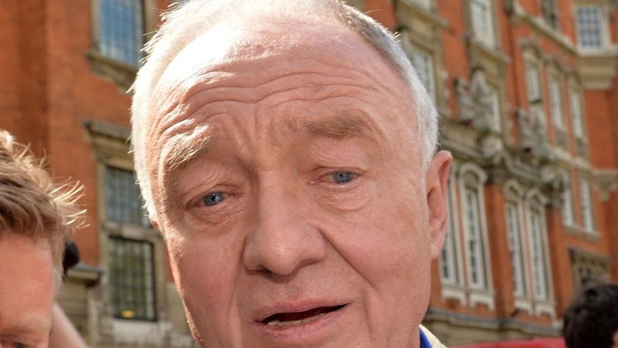 Former mayor of London Ken Livingstone is surrounded media outside Millbank in Westminster, London, Thursday April 28, 2016. Britain's main opposition Labour Party has suspended former London Mayor Ken Livingstone over comments about anti-Semitism. Livingstone, who sits on Labour's National Executive Council, said in a radio interview that he had never heard any anti-Semitic views expressed by Labour members, and claimed Adolf Hitler had supported Zionism before the Holocaust. (Anthony Devlin/PA via AP) UNITED KINGDOM OUT
