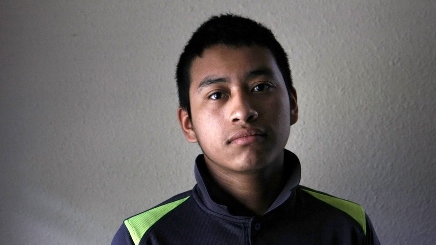 Candelario Jimon Alonzo, 16, is shown in his home in Memphis, Tenn.