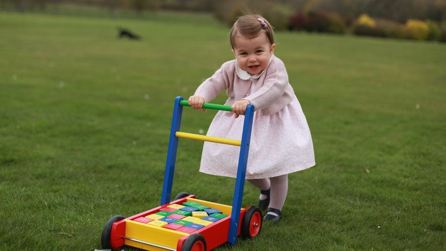 Royal family releases pictures of Princess Charlotte before first birthday