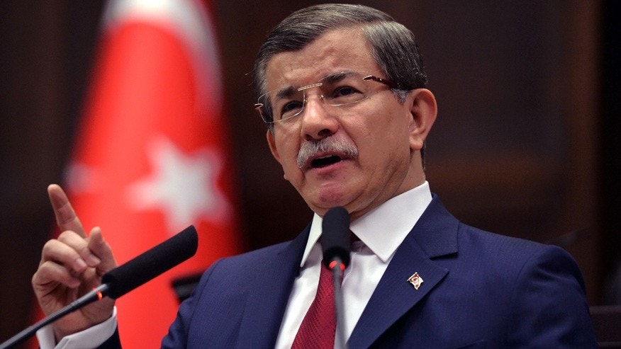 May 3, 2016: Turkey's Prime Minister Ahmet Davutoglu addresses his lawmakers at the parliament in Ankara, Turkey.