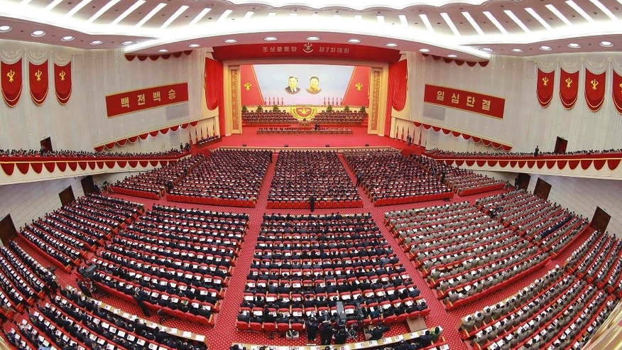In this May 7, 2016, photo taken and distributed by the North Korean government, North Korean delegates attend the party congress in Pyongyang, North Korea. Independent journalists were not given access to cover the event depicted in this photo,distributedvia the Korean Central News Agency and the Korea News Service. (Korean Central News Agency/Korea News Service via AP) JAPAN OUT UNTIL 14 DAYS AFTER THE DAY OF TRANSMISSION