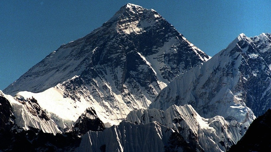 In this October 1996 file photo, Mount Everest is seen from peak Gokyo Ri in Nepal.