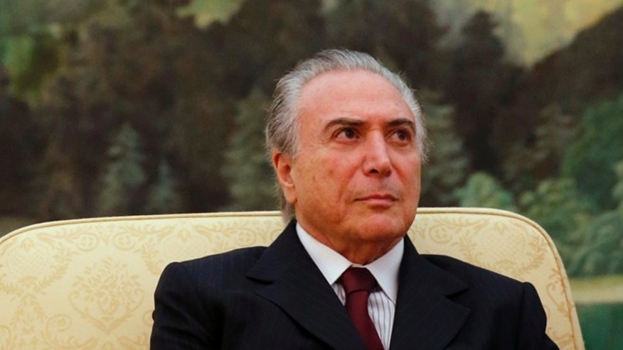 BEIJING, CHINA - NOVEMBER 07:  Brazil's Vice President Michel Temer is seen during a meeting with China's President Xi Jinping (not pictured) at the Great Hall of the People on November 7, 2013 in Beijing, China. The Brazilian Vice President Michel Temer is on a six day visit to China. (Photo by Kim Kyung-Hoon - Pool/Getty Images)