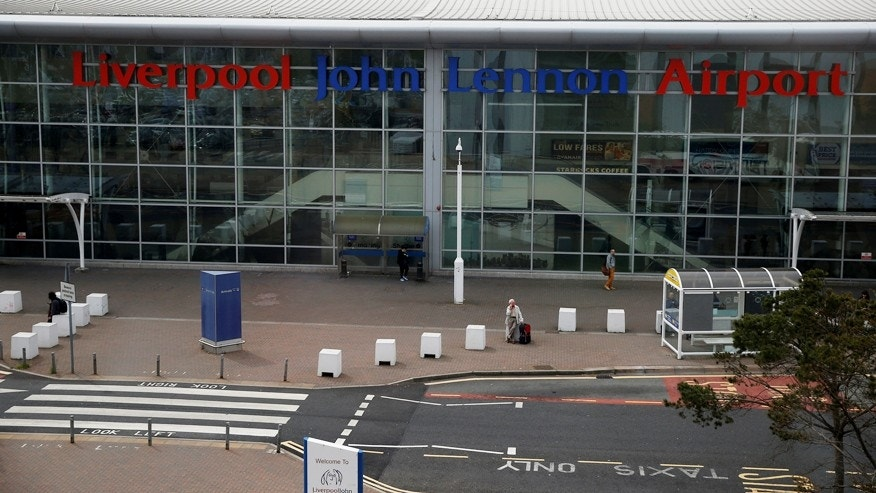 May 19, 2016: A general view of the outside of the passenger terminal at Liverpool John Lennon Airport in Liverpool, England.