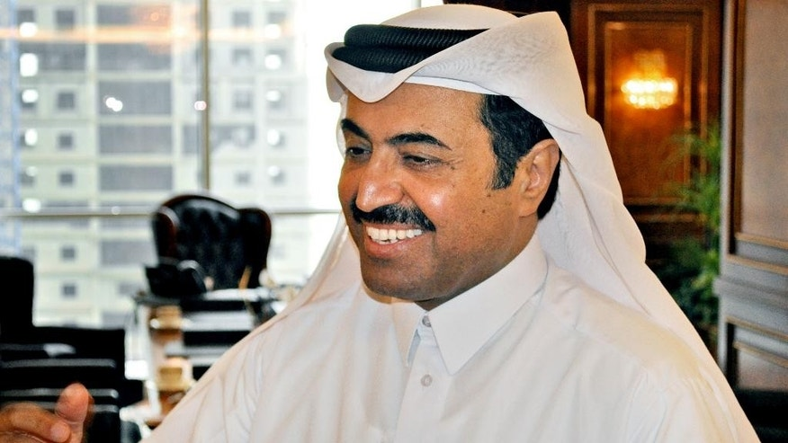"""Mohammed bin Saleh al-Sada, Qatar's minister of energy and industry, speaks to The Associated Press at his office in Doha, Qatar, Tuesday, May 24, 2016. The oil market is slowly recovering from its steep drop over the past two years but crude is still not trading at a """"fair price"""" to encourage necessary investment, Qatar's energy and industry minister said Tuesday, ahead of next week's meeting of OPEC producers. (AP Photo/Adam Schreck)"""