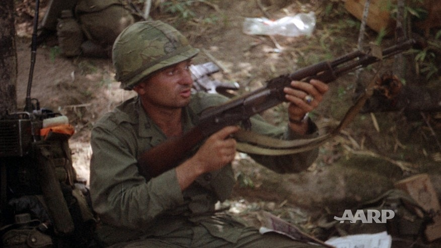 Retired U.S. Army Col. Ramon 'Tony' Nadal during the battle of LZ X-Ray in Vietnam's Ia Drang Valley in 1965.