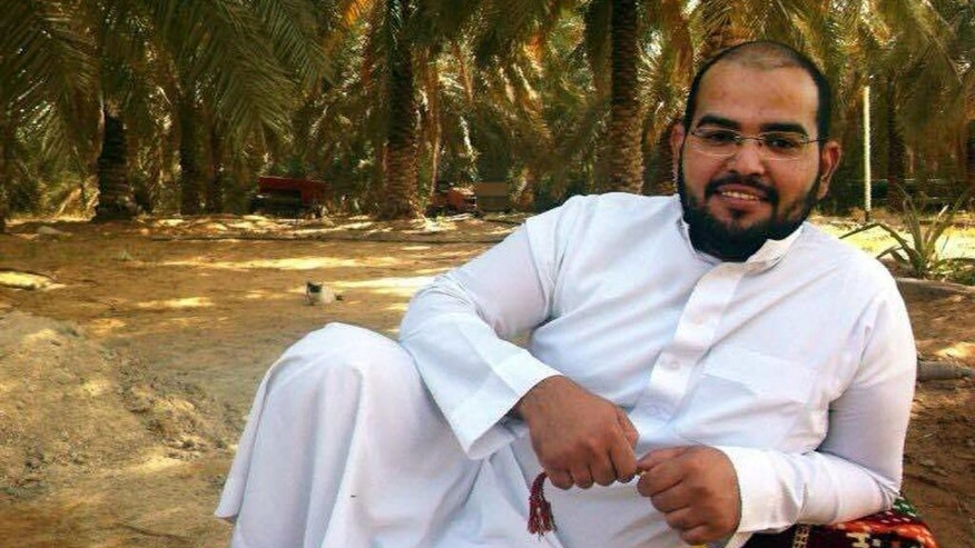 This May 2013 photo provided by Abdulaziz al-Shubaily, shows Abdulaziz al-Shubaily at a farm in the al-Qassim province of Saudi Arabia. Rights group Amnesty International said Monday, May 30, 2016 that a court in Saudi Arabia sentenced al-Shubaily, a member of an independent human rights organization, to eight years in prison in the latest guilty verdict to be issued against the group's members. Abdulaziz al-Shubaily was the only founding member of the Saudi Association for Civil and Political Rights, known by its Arabic acronym HASEM, not yet sentenced to a prison term. (Abdulaziz al-Shubaily via AP)
