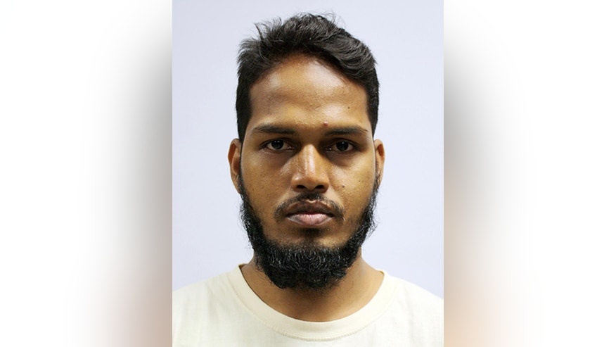 This undated photo released by the Ministry of Home Affairs shows Muhammad Jabath Kysar Haje Norul Islam Sowdagar, one of four Bangladeshi men convicted in a Singapore Court on Tuesday, May 31, 2016, in Singapore. Sowdagar and the three other men held on suspicion of planning attacks linked to the Islamic State group in their own country were convicted of financing terrorism by a court in Singapore on Tuesday. (AP Photo/Ministry of Home Affairs)