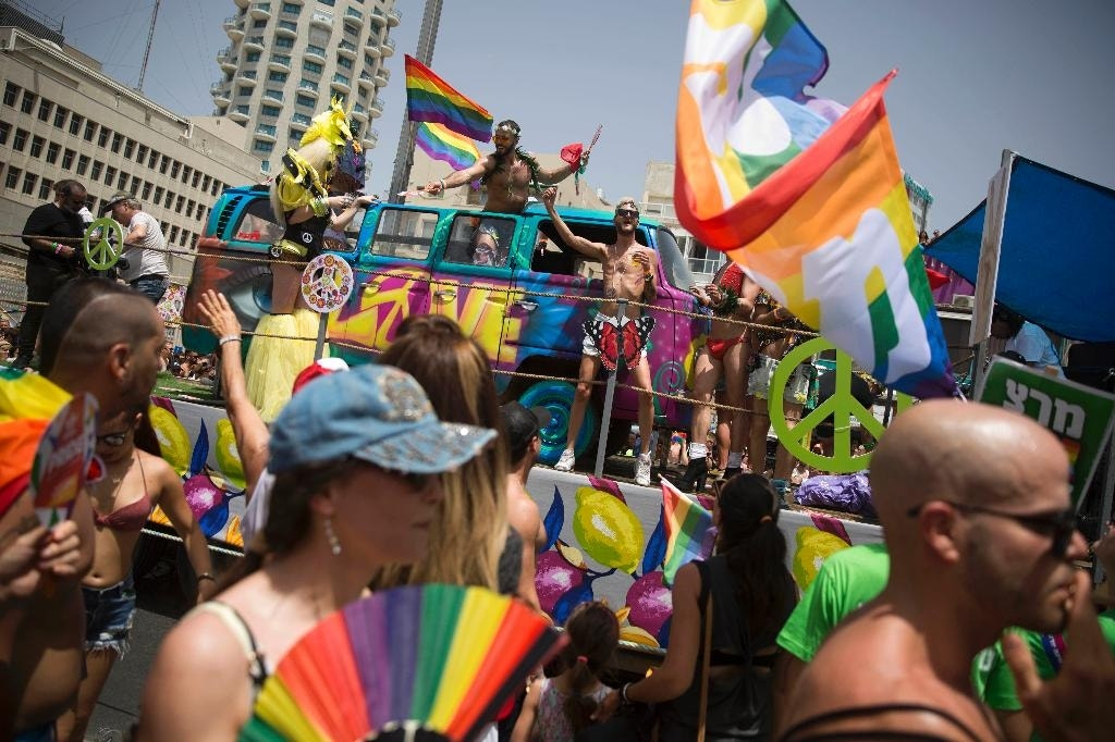 a gay parade and party