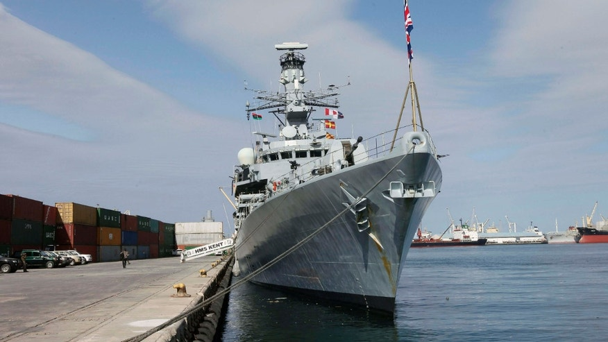 April 2, 2013: Britain's HMS Kent is docked at Tripoli port April 2, 2013. Five Libyan naval officers travelled on the British Royal Navy ship from Portsmouth, whose visit was part of bettering cooperation between Britain and the North African country..
