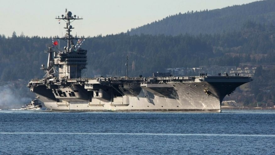 Dec. 1, 2014: FILE - In this photo Dec. 1, 2014 file photo, the aircraft carrier USS John Stennis seen near Bremerton, Wash.