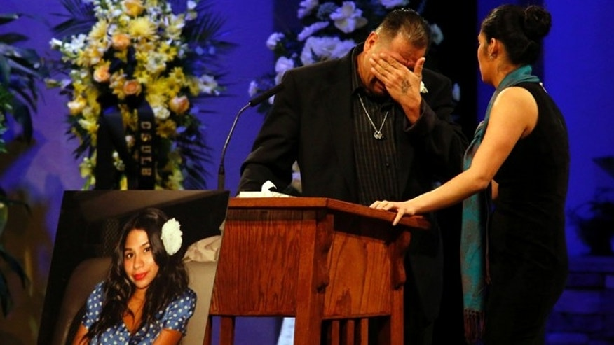 Reynaldo Gonzalez breaks down while remembering his dead daughter on Dec. 4, 2015.