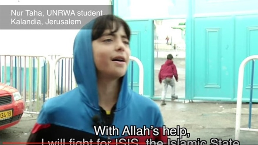 The documentary captured schoolkids praising ISIS and vowing to kill Jews. (Screengrab)