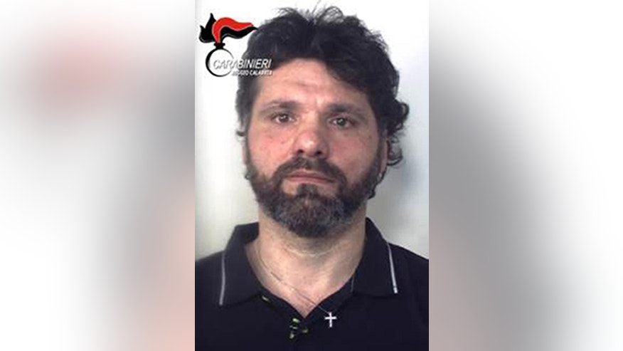 Photo released Sunday, June 26, 2016, shows Ernesto Fazzalari, Italy's No. 2 fugitive, who was captured Sunday as he slept in his bed in a hideout in the rugged Calabrian mountains after 20 years on the run (Italian Police/HO Photo via AP)