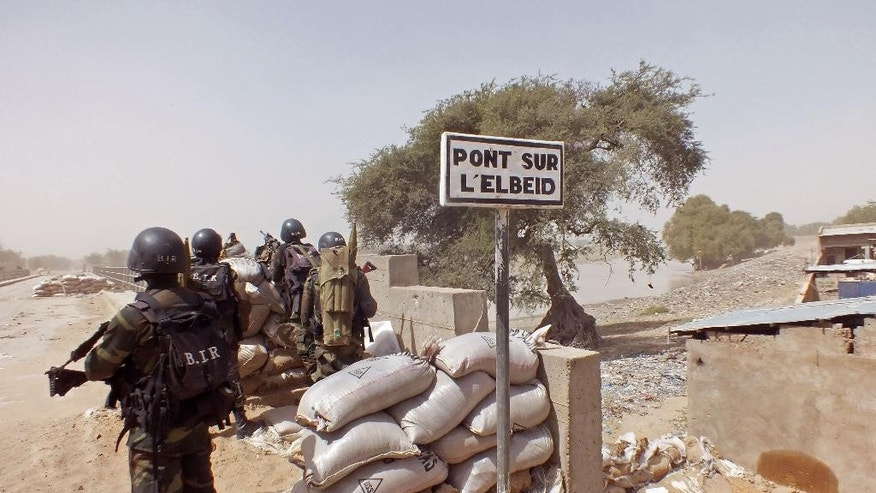 Cameroon soldiers stand guard at a lookout post as they take part in operations against Boko Haram in February 2015.