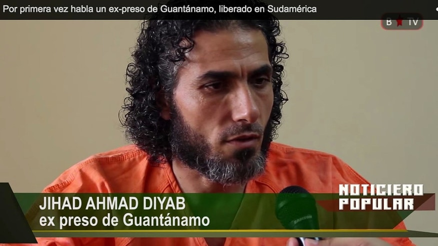 In this frame grab taken from Barricada TV, former Guantanamo detainee Abu Wa'el Dhiab,on Feb. 11, 2015.