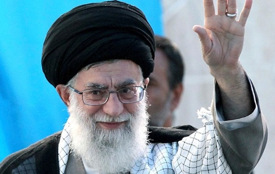 In this photo released by an official website of the Iranian supreme leader's office, Iranian supreme leader Ayatollah Ali Khamenei, waves to the crowd as he arrives to deliver a speech at the ceremony of 22nd anniversary of the death of the late revolutionary founder Ayatollah Khomeini, in his mausoleum just outside Tehran, Iran, Saturday, June 4, 2011. (AP Photo/Office of the Supreme Leader) ** EDITORIAL USE ONLY, NO SALES **