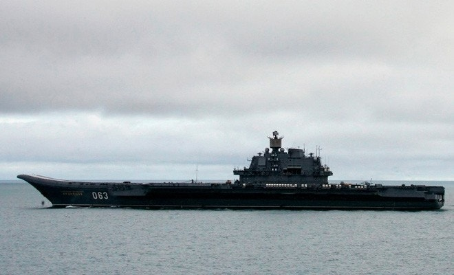 Russia sends its only aircraft carrier to Syria in response to US