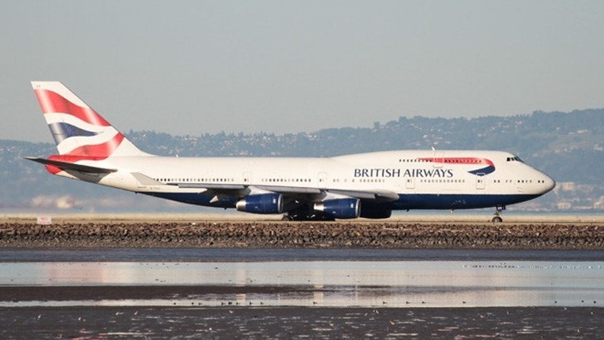 A British Airways Boeing 747-400 taxis at San Francisco International Airport